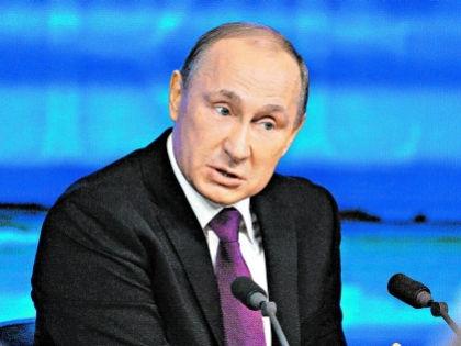 Владимир Путин на пресс-конференции 2014 года //  Александр Алёшин / Собеседник
