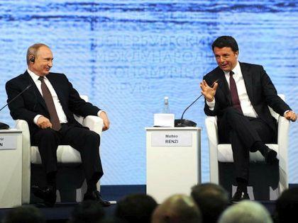 Владимир Путин и Маттео Ренци // Global Look Press