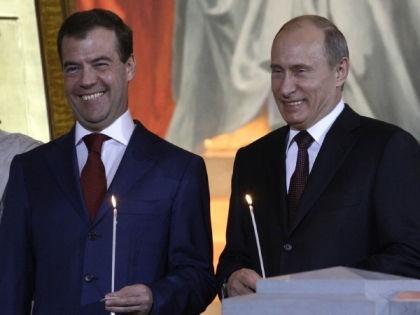 Дмитрий Медведев и Владимир Путин // Global Look Press
