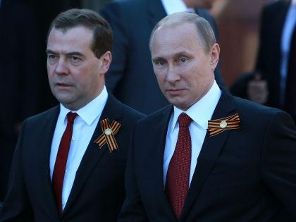 Праздновать 9 мая Медведев и Путин будут без Обамы и Меркель // Dmitry Golubovich / Russian Look