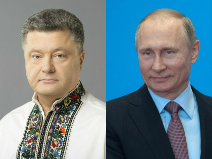 Петр Порошенко и Владимир Путин // Global Look Press