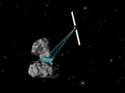 Космический аппарат Rosetta облетает комету Чурюмова-Герасименко // Кадр YouTube