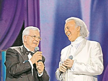 Илья Резник с Раймондом Паулсом // Global Look Press