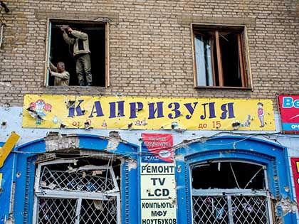 По мнению командира «Донбасса» Семена Семенченко, спасти страну можно только войной // Джеймс Спранкли / Global Look Press