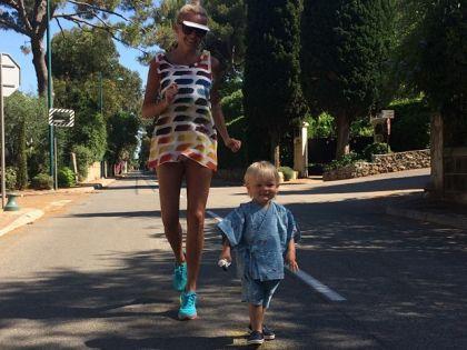 Яна Рудковская с сыном // instagram.com
