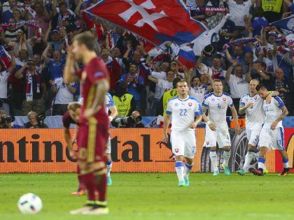 Сборная России проиграла Словакии 1:2. Героем матча стал Марек Гамшик // Global Look Press / ZUMAPRESS