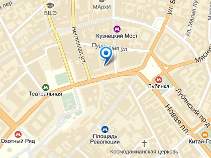 Инцидент произошел в здании по адресу Театральный проезд, дом 3, строение 3 // Яндекс.Карты