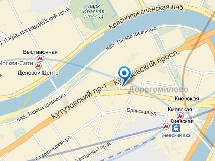 ДТП произошло на выезде из Дорогомиловского тоннеля в районе дома № 17 по Кутузовскому проспекту // Яндекс.Карты