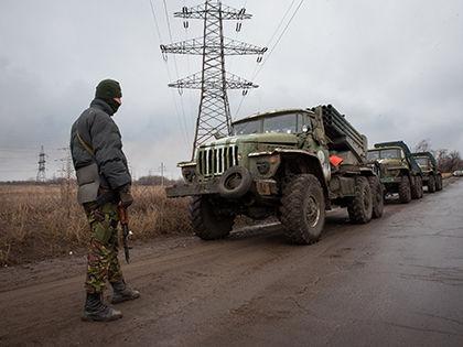 Стрельба, по информации ВСУ, велась из миномётов, гранатомётов и танков // Джеймс Спранкли / Global Look Press