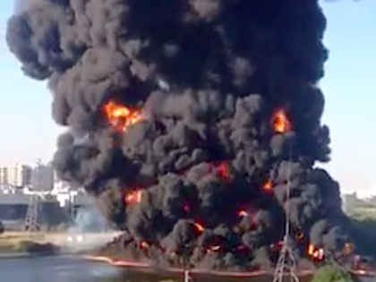 Пожар в районе Марьино произошёл в среду, 12 августа //  Скриншот с Youtube