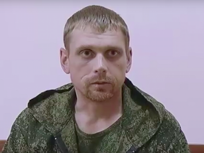 Пойманный на Украине россиянин Владимир Старков //  Скриншот с Euronews