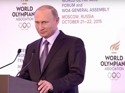 Выступление Владимира Путина на форуме //  Кадр с Russia Today