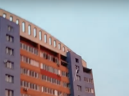 Из-за взрыва газа дом в Рязани частично обрушился // Стоп-кадр YouTube