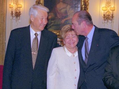 С президентом Франции Жаком Шираком. США. 1997 // из личного архива