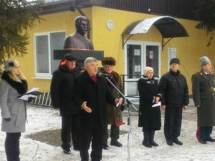 Открытие памятника Сталину в Ростовской области // Стоп-кадр YouTube