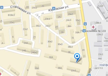 Инцидент произошел в доме номер 40 на улице Сторожевой в районе Лефортово ЮВАО города Москвы // Яндекс.Карты