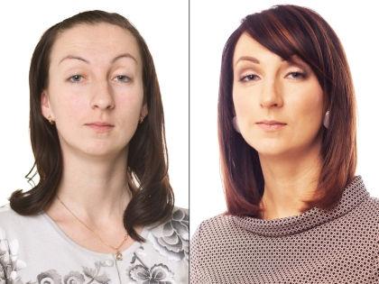 Светлана до и после преображения // Александр Крофт / студия «Фотоколледж»