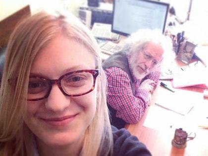 Леся Рябцева и главный редактор «Эха Москвы» Алексей Венедиктов // nstagram / @gdekak