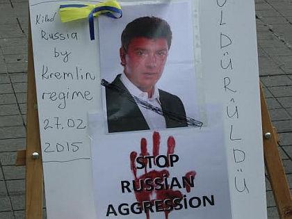 Активисты в Стамбуле почтили память убитого в Москве Бориса Немцова // Виктория Савицкая