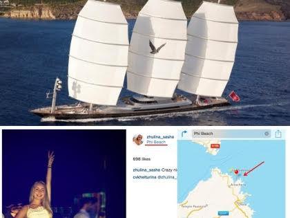 Недельная аренда яхты, на которой, вероятно, отдыхают Песков и Навка обходится молодоженам в 385 тыс. евро в неделю // Скриншот сайта Алексея Навального