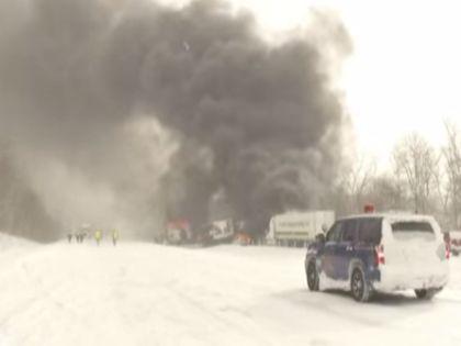 Несколько автомобилей загорелись // You Tube