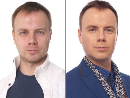 Валентин до и после преображения // Александр Крофт / студия «Фотоколледж»