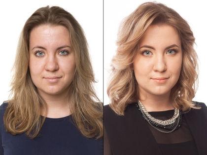 Валерия до и после преображения // Александр Крофт / студия «Фотоколледж»