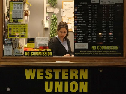 Пункт отправки переводов Western Union // Andreas Bastian/Global Look