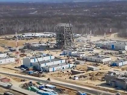 """Строительство космодрома """"Восточный"""" // кадр Youtube.com"""