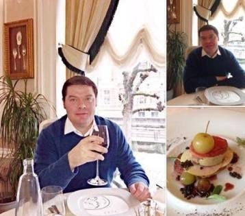 Вице-губернатор Рявкин и его шикарный ужин с фуа-гра // Фото со страницы Александра Рявкина в Facebook