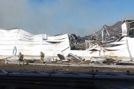 Пожар на мебельной фабрике был потушен // ГУ МЧС Саратовской области