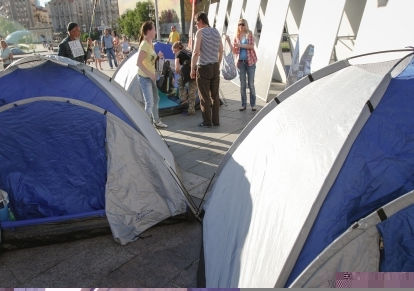 Палаточный лагерь в центре Киева 7 июня // Global Look Press