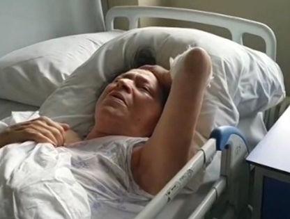 Жанна Плиева в больнице // Стоп-кадр НТВ