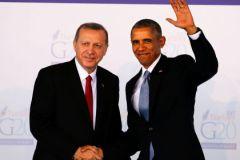 Реджеп Тайип Эрдоган и Барак Обама на саммите G20 в Турции