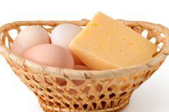 Сыр, яйца