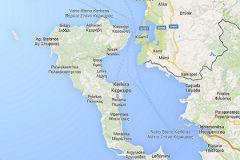 Судно находится около греческого острова Корфу