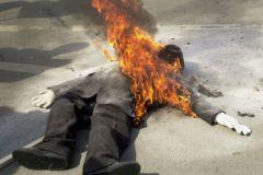 Акт самосожжения мужчина совершил после того, как получил известие об увольнении
