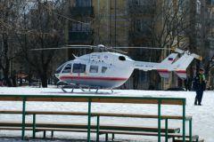 Ребенка в больницу доставил вертолет МЧС