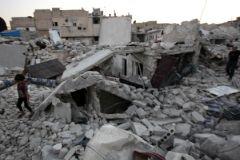 Последствия авиаударов по Алеппо