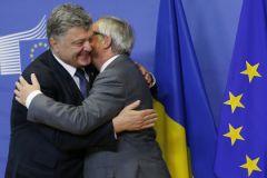 Президент Украины Петр Порошенко и глава Еврокомиссии Жан-Клод Юнкер