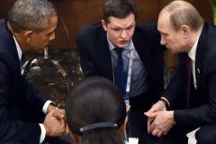 Барак Обама и Владимир Путин на саммите G20 в Анталье