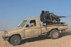 Террористы ИГ во время боя с правительственными войсками Сирии