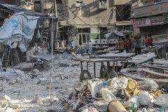 В Алеппо обстреляли гуманитарный конвой в ночь на среду, 21 сентября