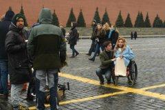 Юлия Самойлова на Красной площади