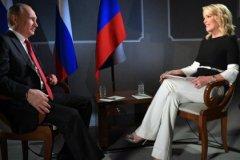 Мегин Келли берет интервью у Владимира Путина на ПМЭФ-2017