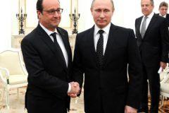 Владимир Путин и Франсуа Олланд в Кремле