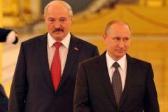 Александр Лукашенко и Владимир Путин в Минске