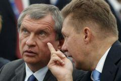 Глава «Роснефти» Игорь Сечин и руководитель «Газпрома» Алексей Миллер