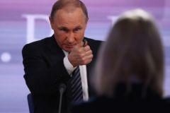 Владимир Путин во время пресс-конференции 17 декабря