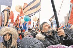 Далеко не все граждане пришли в рабочий день на митинг по своей воле